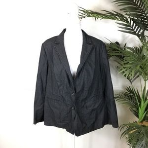 Lane Bryant Blue Blazer Jacket Womens Plus Size 18